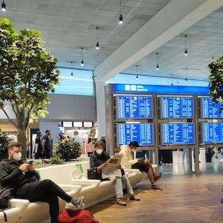In transit airport image